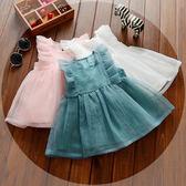 連身裙0-1-2-3歲女寶寶夏裝女童公主裙6個月嬰兒童裝紗裙無袖背心洋裝限時7折起,最後一天