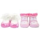 娃娃城 Baby City 優雅粉女童短襪2入禮盒 232元
