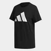 Adidas W UR Tee 女款黑色運動短袖上衣-NO.GK3346