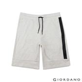 【GIORDANO】 男裝抽繩設計口袋五分褲- 01 花紗月巖淺灰