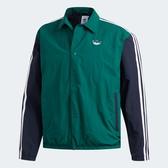 ADIDAS TREFOIL COACH 男裝 外套 慢跑 訓練 防風 拼接 三條線 藍 綠【運動世界】EJ7109