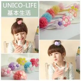 UNICO 韓版 兒童 可愛花朵髮繩/髮飾/頭飾/飾品