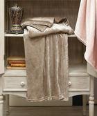 【EBC】Chic法蘭絨單層毯(可可棕)