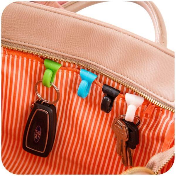✭米菈生活館✭【F02】創意防丟包包內掛鉤 內置鑰匙夾 方便攜帶鑰匙扣 鑰匙掛勾 小物收納  2入裝