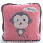 動物午睡枕頭汽車沙發抱枕被子兩用靠墊辦公室珊瑚絨空調靠枕毯子 igo