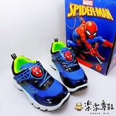 【樂樂童鞋】【台灣製現貨】蜘蛛人運動燈鞋 MN024 - 台灣製 現貨 男童鞋 運動鞋 休閒鞋 布鞋