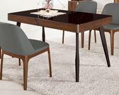 【新北大】✪ B439-1  蓋文4.5尺玻璃餐桌(不含餐椅)-18購