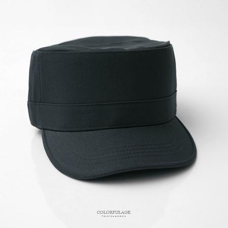 軍帽 型男硬挺素面帽子【NH23】