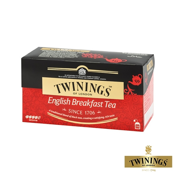【TWININGS 唐寧】英倫早餐茶 2gX25入(盒)