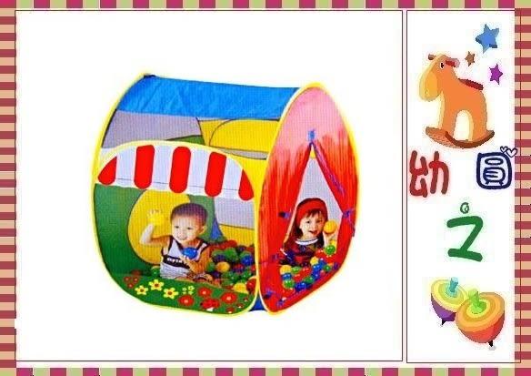*幼之圓*可愛花園小屋球屋/兒童帳篷遊戲球屋~雙開口大紗網~送100球