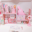 書架 少女心粉色收納架置物架儲物架書架學生宿舍桌面收納簡易可伸縮  ATF  秋季新品
