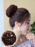 丸子頭 真髮假髮圈凌亂假頭花蓬鬆自然假髮 頭飾盤髮丸子頭 花苞假頭髮圈