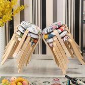實木圓凳家用塑料皮革板凳餐凳簡約加厚餐桌凳創意小凳子椅子時尚 igo 薔薇時尚