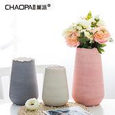 北歐簡約陶瓷插花花瓶擺件 現代客廳電視櫃幹花器歐式擺設裝飾品
