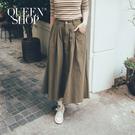 Queen Shop【03020567】打摺傘擺抽鬚長裙 兩色售 S/M*現+預*