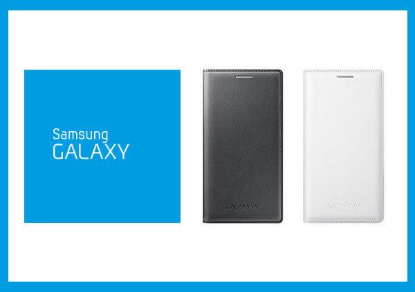 【拆封新品】SAMSUNG GALAXY A3 原廠 皮革翻頁式皮套 (盒裝)