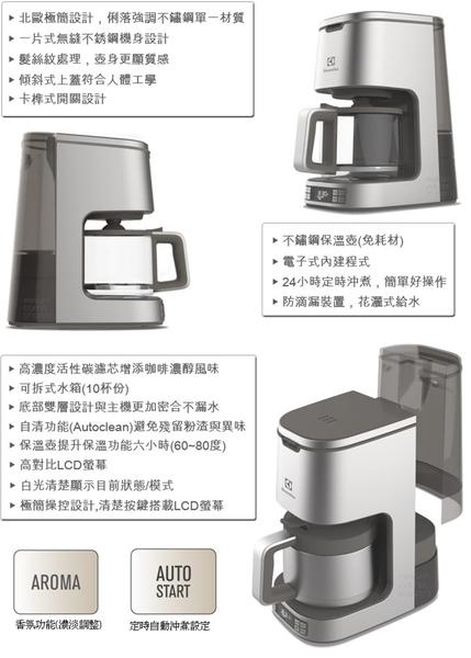 伊萊克斯設計家系列美式咖啡機ECM7814S