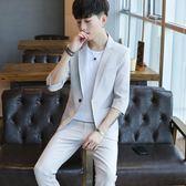 新款韓版潮流修身男士休閒小西裝外套夏季男裝衣服 QQ1234『樂愛居家館』