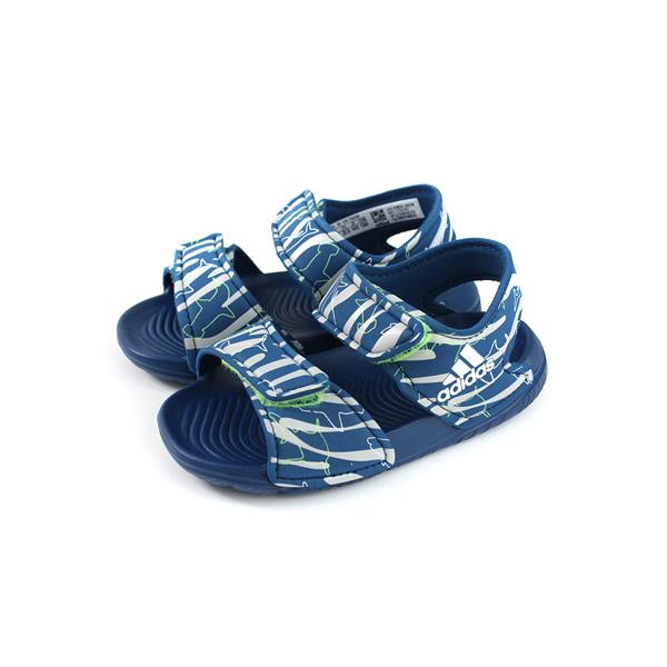 adidas ALTASWIM I 童鞋 涼鞋 藍色 小童 F34791 no699