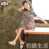 兒童洋裝超洋氣童裝女童夏裝新款兒童洋裝子中大童韓版小女孩公主裙 初語生活