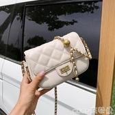 錬條包上新小包包女包2020新款潮時尚菱格錬條斜背包百搭質感側背小方包 coco