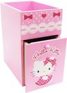 【震撼精品百貨】Hello Kitty 凱蒂貓~HELLO KITTY圓點裙雙層單抽收納盒-淡粉*38035