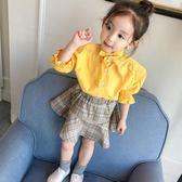 2018新款女童襯衫純棉白嬰兒童韓版