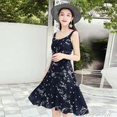 露背矮個子洋裝女夏新款顯高海邊度假棉綢沙灘裙性感顯瘦 提拉米蘇