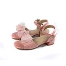 兒童鞋 涼鞋 小女生鞋 低跟 粉紅色 中童 童鞋 31616 no187