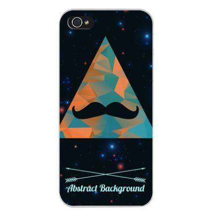 ♥ 俏魔女美人館 ♥ {三角鬍子*水晶硬殼} Iphone 5 / 5S/ 5C  手機殼 手機套 保護殼 保護套
