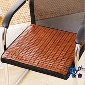 坐墊涼席透氣椅子竹涼墊電腦凳麻將席座墊簡約【古怪舍】