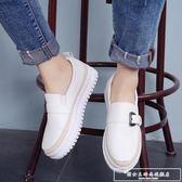 小白鞋子2018春季新款厚底一腳蹬女鞋韓版百搭懶人鞋樂福鞋單鞋夏『韓女王』