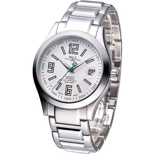 BALL Engineer II Arabic 極簡優雅 機械腕錶-(NM1020C-S4-WH)白色