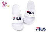 FILA 拖鞋 男女款 全防水 運動拖鞋 情侶鞋 C9985#白色◆OSOME奧森鞋業