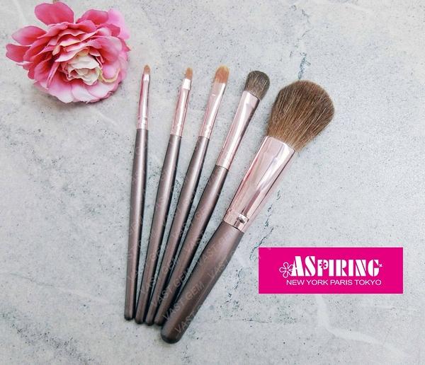 【刷具】Aspiring 玫瑰金美容刷具組合