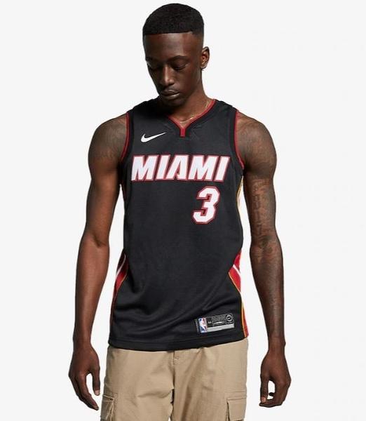 Nike SWGMN JSY ROAD 邁阿密 韋德WADE 球衣 864487025 黑紅【iSport愛運動】