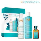 Moroccanoil 摩洛哥優油保濕水潤組 (洗髮露 250 ml+護髮劑 250 ml+優油 25 ml) 【SP嚴選家】