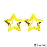 Jove gold 漾金飾 晨星黃金耳環-大