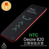 E68精品館 HTC DESIRE 820 View Cover 智能 立顯 炫彩 原廠款 側掀 點陣 洞洞 保護套 皮套 軟殼
