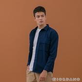 【GIORDANO】男裝純棉工裝風襯衫 - 03 海軍藍