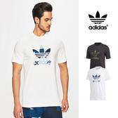 【GT】Adidas 白 短袖T恤 迷彩 純棉 運動 休閒 素色 上衣 短T 愛迪達 基本款 三葉草 Logo DX3676
