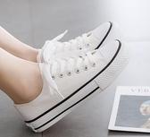 帆布鞋 2019新款小白帆布女鞋学生板鞋ulzzang韩版百搭潮鞋夏季夏款布鞋 玫瑰