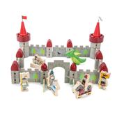 【美國Tender Leaf Toys】魔法巨龍城堡建構組(內附59個積木配件)