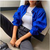✦Styleon✦正韓。亮色蓬蓬袖口袋短版外套。韓國連線。韓國空運。0904。