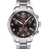 TISSOT天梭 2018亞運會特別版 韻馳系列 Chrono XL手錶-灰/45mm T1166171105702