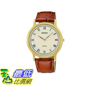 [美國直購] Seiko Men s 男士手錶 SUP876 Analog Display Japanese Quartz Brown Watch