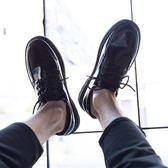 夏季皮鞋男韓版潮流百搭透氣鞋子男學生休閒青少年英倫黑色小皮鞋 童趣屋