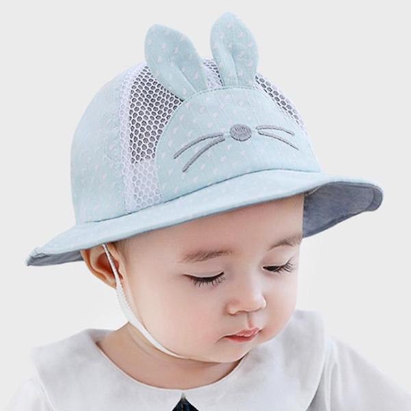 全館83折 嬰兒帽子0-3-6-12個月夏季透氣網眼盆帽寶寶防曬遮陽帽漁夫帽夏天