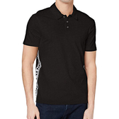 AX阿瑪尼針織短袖黑色Polo(黑色)