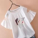 女童短袖上衣 女童短袖T恤洋氣中大童夏季9上衣12歲女孩純棉半袖13夏裝新款 韓菲兒
